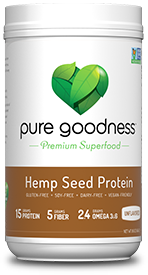 picture of pure goodness hemp seed protein unflavored